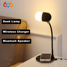 696 L4 Qi Wireless Charger Stand LED Desk Lamp Light Smart Touch 3 in 1 Bluetooth Speaker For iPhone XS XR X 8 for Samsung