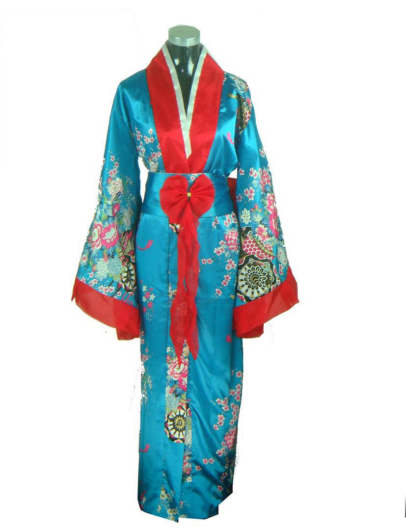 Lanternes, parfum sucré, et une pointe de discorde chez les naufragés ~ [LIBRE] Promotion-Blue-Female-Silk-Kimono-font-b-Japanese-b-font-Classic-Yukata-With-font-b-Obi