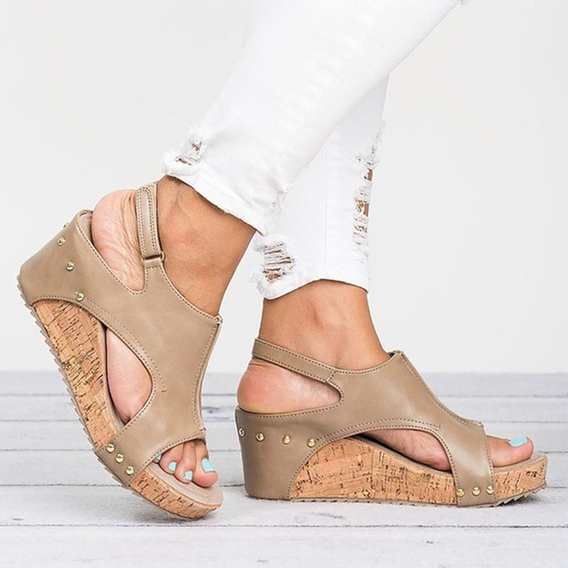 authorized site best loved best cheap Platform Sandal Wedge Shoes For Women - SlayQueenin
