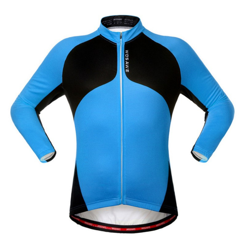 Mens Cycling Jersey Long Sleeve Outdoor Sports Bicycle Cycle Clothing Quick Dry Riding Color Patchwork Clothes