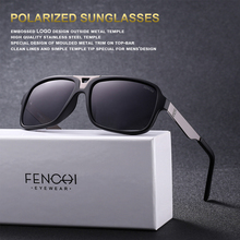 FENCHI Design Sunglasses Men Polarized Square Retro New Driving Vintage Fashion Fishing  Sun glasses
