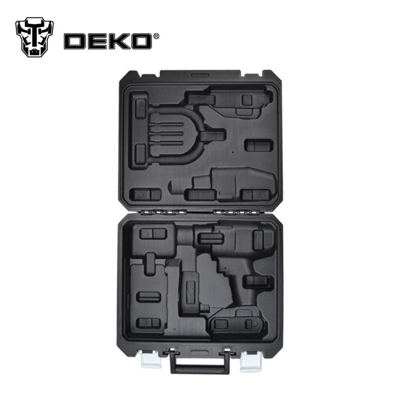 DEKO tool 18V cordless drill BMC Plastic box not include cordless drill