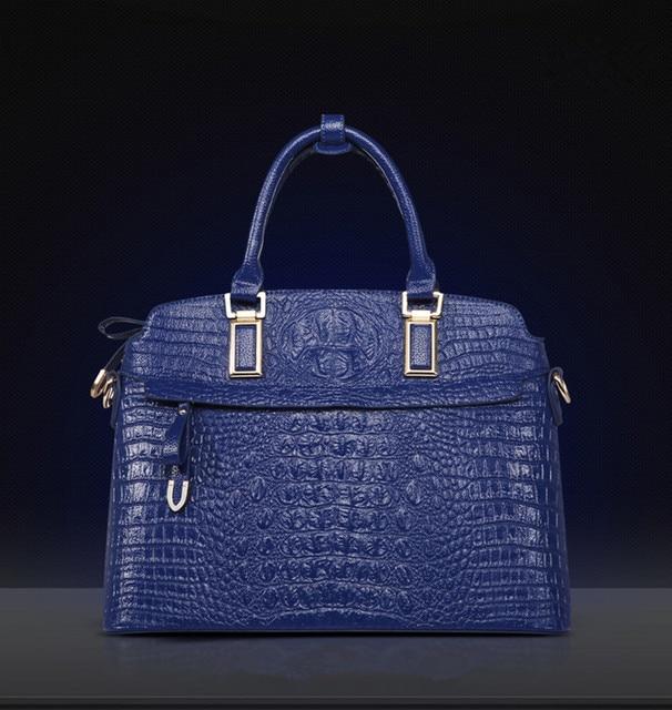 OLGITUM Hot Sale 2017 Fashion  Famous Handbag Luxury  Shoulder Messenger Bags Crocodile Women  Leather Embossed Bag F505