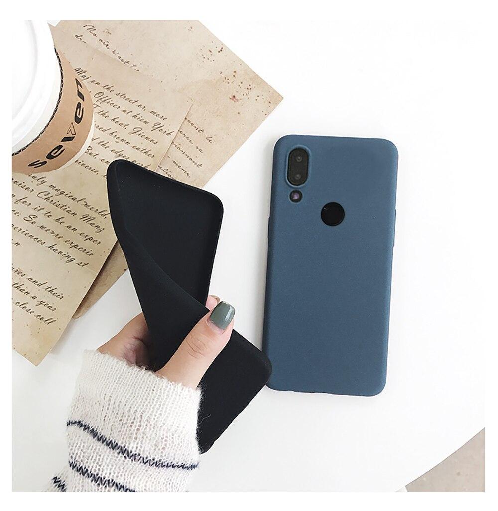 for LECAYEE Redmi Note 7 Matte Case Cover Redmi Note 5A Prime In Fitted Silicone Phone Case redmi 6 pro 6a 5 5a 4x s10 case (8)