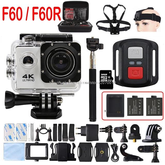 F60/30pfs câmera 16mp wi-fi ultra hd yi f60r 4 k 1080 p 60pfs 2 polegada de controle remoto à prova d' água câmera ação cam ir pro 3 hero 4