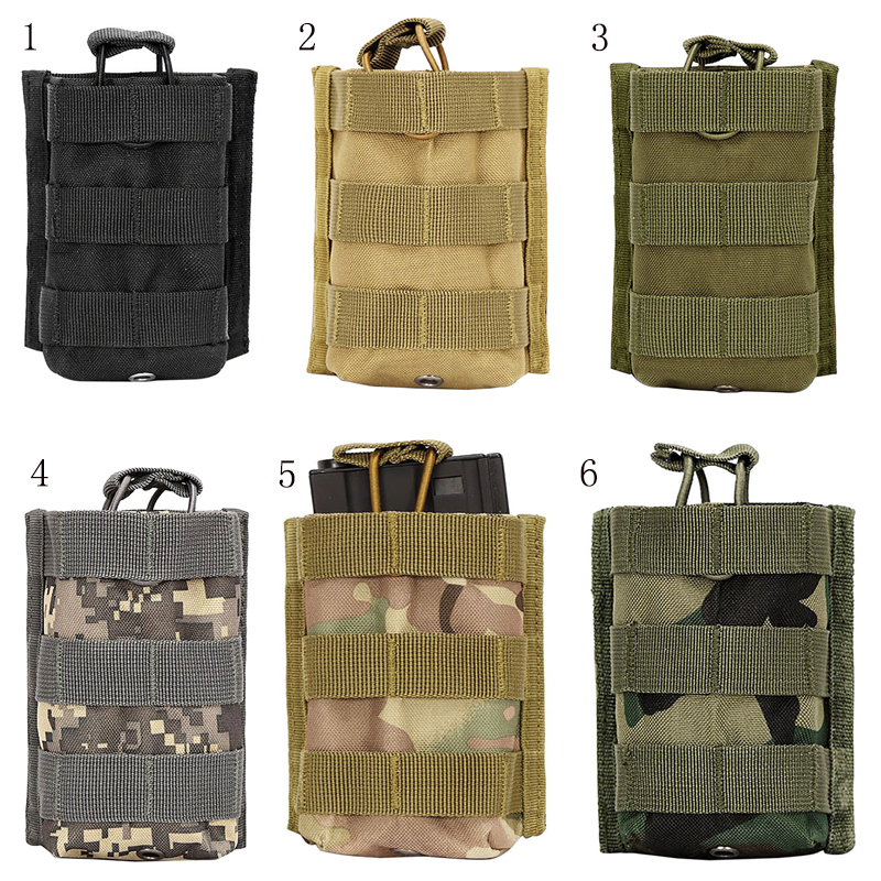 Outdoor Camping Tactics Package Pouch Pure Colors Magazine Pouches Outdoor Tactical Walkie Talkie Bags Molle Rifle Pocket