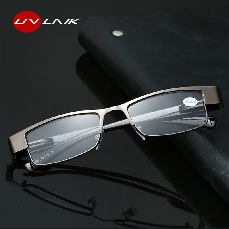 UVLAIK Homens de Negócios Óculos de Leitura Moda Retângulo Prescrição Óculos Hipermetropia Presbiopia + 1.0 + 1.5 + 2.0 + 2.5 + 3.0 + 3.5