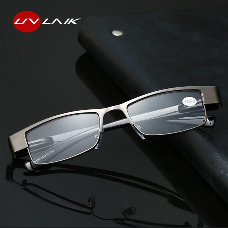 ae21051563 UVLAIK hombres gafas de lectura de moda rectángulo anteojos recetados  hipermetropía la presbicia + 1,0 + 1,5 + 2,0 + 2,5 + 3,0 + 3,5