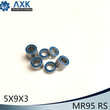 MR95RS Bearing ABEC-3 (10PCS) 5*9*3 mm Miniature MR95-2RS Ball Bearings RS MR95 2RS With Blue Sealed L-950DD 2pcs rubber sealed 440 stainless steel hybrid ceramic ball bearings s6803 6803 2rs 17 26 5mm si3n4 bike part