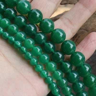 10 มม. หินธรรมชาติเครื่องประดับลูกปัด choker สร้อยคอต่างหู dangle charms สร้อยข้อมือ Chrysoprase สีเขียว