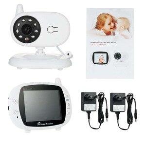 Image 5 - Babyphone Camera bezprzewodowa elektroniczna niania z kamerą cyfrowe monitorowanie temperatury w podczerwieni bezpieczeństwo Baba kamera Eetronica