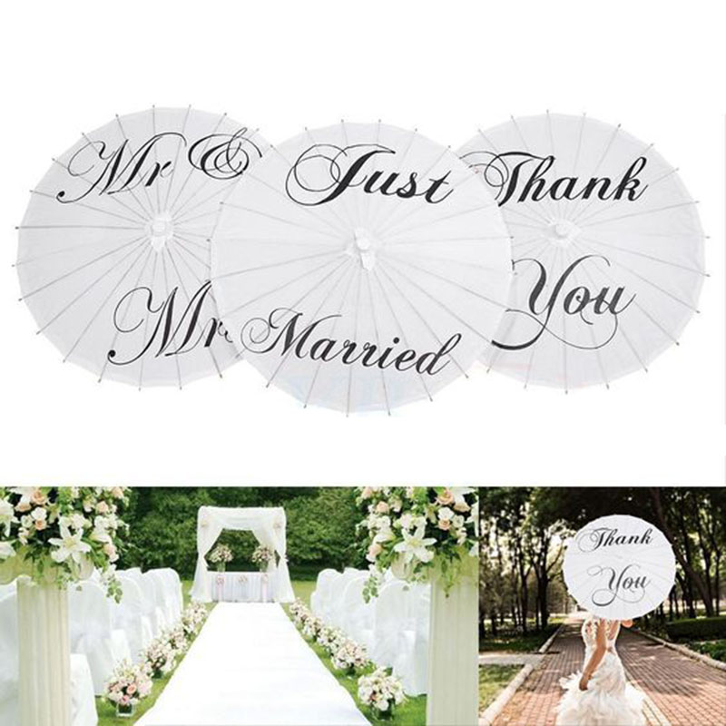 1pcs Just Married Paper Umbrella Bridesmaids Hen Party Decor Mr Mrs Bumbershoot Wedding & Engagement Party Supplies 1pcs Just Married Paper Umbrella Bridesmaids Hen Party Decor Mr Mrs Bumbershoot Wedding & Engagement Party Supplies