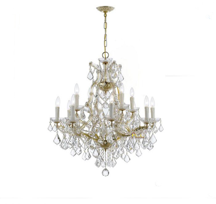 купить Phube Lighting Maria Theresa K9 Crystal Chandelier Lighting Gold/Chrome Chandelier Light Lighting+Free shipping по цене 27212.6 рублей