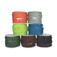 YOUGLE 2.5mm 3 strand Reflective Paracord parachute Tent wind rope fixed rope fishing line clothesline Multipurpose rope 50m