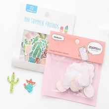 1pack/lot flamingo cactus cherry blossom stationery sticker kawaii  labels DIY decorative sealing bookmark