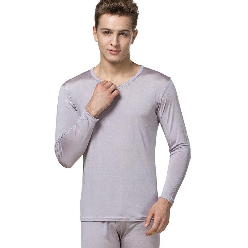 100% natural Silk long johns, Autumn And Winter, High grade Silk, Breathable Thin Underwear, Warm Underwear, Men's Big Code. - 6