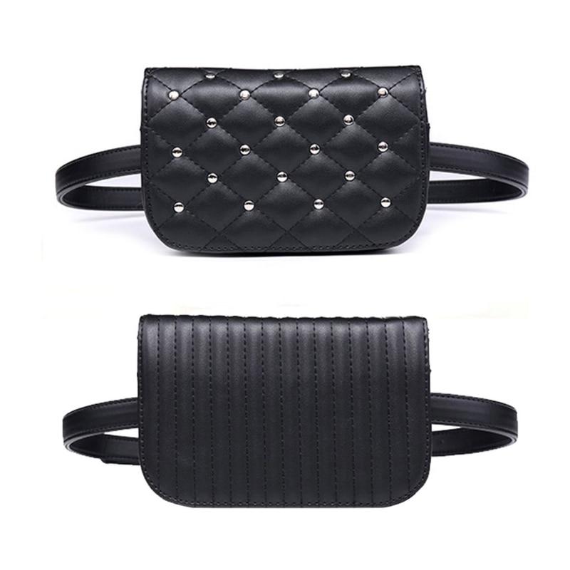 Fanny Pack Bum Bag Waist Pouch PU Leather Fanny Pack Waist Bag Elegant Rivet