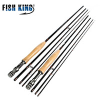 FISH KING Carbon fly Fishing Rod 2.4M/2.7M canne a peche Soft Cork Handle Fishing Rod High Quality Baitcasting pesca
