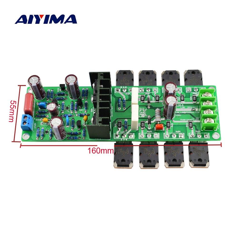 Aiyima 2PC L20.5 Dual Channel Audio Amplifier Board Amplificador 250W*2 HIEND Ultra-low Distortion KEC KTB817 KTD1047 AMP