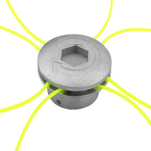 Universal Aluminum Grass Trimmer Head With 4 Lines Brush Cutter Thread Nylon Cutting Line for Lawn Mower Silver