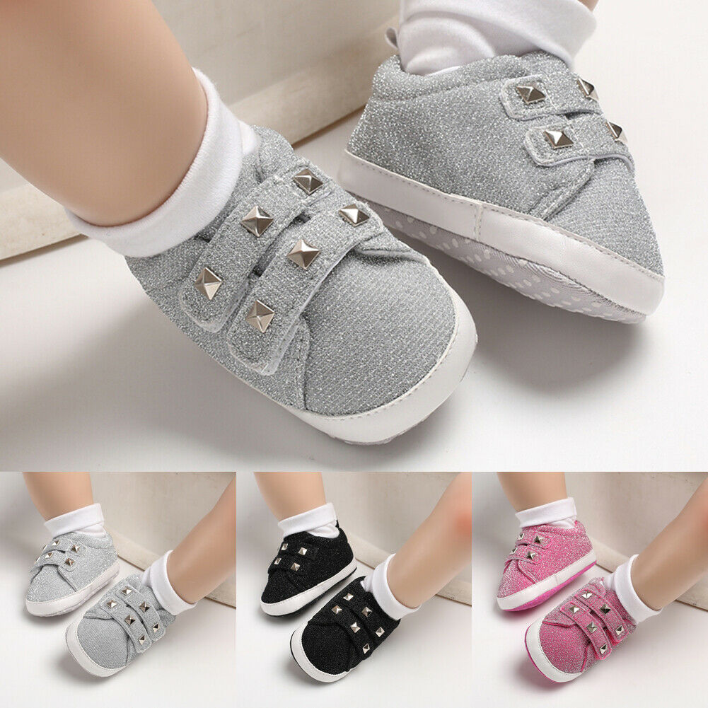 Cute Solid New Born Baby Shoes Toddler Kids Sneakers Casual Baby Boys Girls Soft Sole Crib Shoes First Walkers 0-18Months