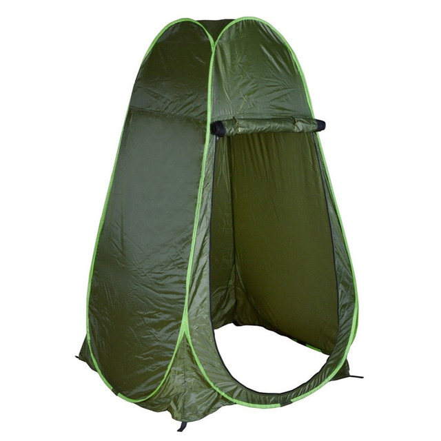 Portable Green Outdoor Pop-Up Tent Shower Changing Tent Toilet Camping Tent Privacy Toilet Changing Room 1