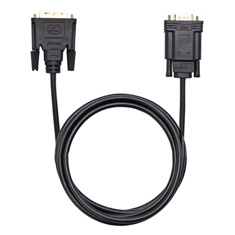 Active DVI to VGA 1.8m 6FT DVI 24+1 DVI-D M to VGA Male Cable Black Stable DVI Cables for PC/DVD/Monitor/HDTV July07 цена 2017