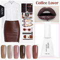 Azure 12ml Coffee Lover Series UV Gel Polish Grey UV Gel Nail Glue Lacquer Soak-off UV Led Lamp Gel Polish Need UV Lamp Varnish