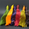 Long Size 17cm Muti Bright Color Silk Cotton Tassel For Fashion Jewelry Handmade Materials 20PC/Lot Free Shipping