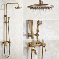 Латунь Душ Для ванной указан Европейский Стиль Ванная комната ручной сопла, античная душа, горячей и холодной Ретро Душевые системы