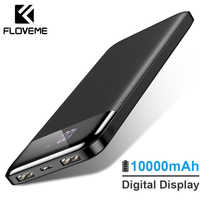 FLOVEME 10000mAh Power Bank External Battery Pack Portable Charger Mi Powerbank Poverbank Power Bank For iPhone Xiaomi 3 Charger