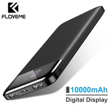 FLOVEME 10000mAh Power Bank External Battery Pack Portable Charger Mi Powerbank Poverbank For iPhone Xiaomi 3