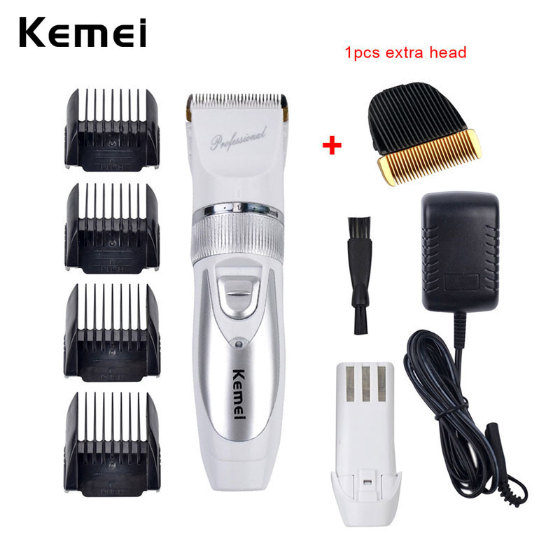 110-240V Low Noise Rechargeable Hair Trimmer Titanium Blade 0.8-2.0mm Adjustable Hair Clipper With 4 Limit Comb KM-6688 S43 110 240v low noise rechargeable hair trimmer titanium blade 0 8 2 0mm adjustable hair clipper with 4 limit comb km 6688 s43