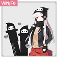 3 In 1 Functions Winter Kawaii Reaper Fleece Scarf And Hat & Glove Sets For Women Lovely Reaper