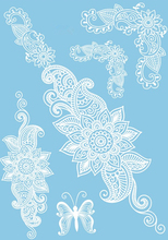 Latest Design White Henna Tattoo Paste Lace Wedding Bride Necklace Tattoos Modern Temporary Tattoos