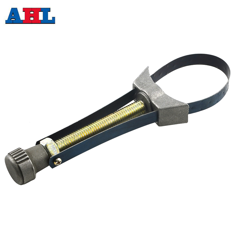 1pc Car Auto Motorcycle Oil Filter Removal Tool Strap Wrench Diameter Adjustable 60mm To 120mm Top Quality