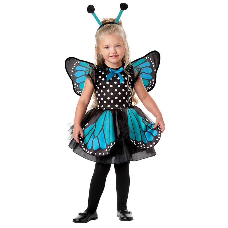 Halloween Costume For Kids Butterfly Fairy Suit Girls Forest Woodland Green Elf Fairy Costumes Cosplay Tinker Bell Dress DN2417
