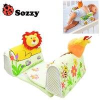 1 יחידות תינוק Sozzy לסיים עיצוב כרית שינה כרית אנטי רול כרית להתאים את המצב לעיצוב צד צפרדע ג 'ירפה אריה