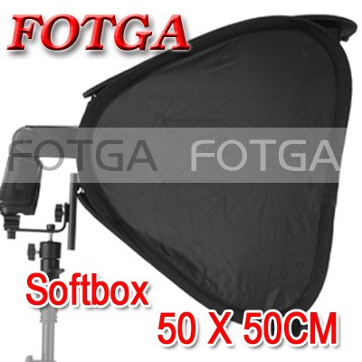 Wholesale FOTGA 20 Portable 50cm Softbox Soft Box for Flash Light Speedlite Photo Speedlight