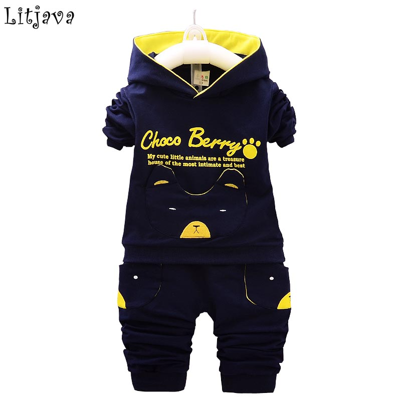 2017 New Baby Boy&Girl Winter Clothes Set Cotton Spring Autumn Newborn Baby Hoodie+ Pant Outfit Set Flying Bear Sport Bodysuit 2pcs set baby clothes set boy