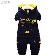 2017 New Baby Boy&Girl Winter Clothes Set Cotton Spring Autumn Newborn Baby Hoodie+ Pant Outfit Set Flying Bear Sport Bodysuit