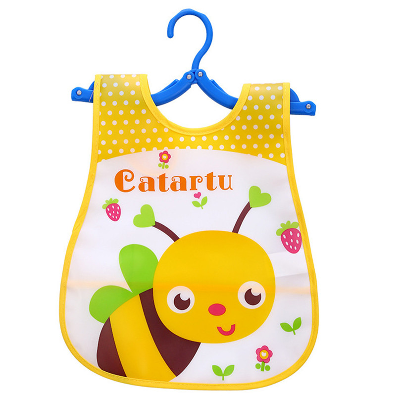 Adjustable Baby Bibs EVA Plastic Waterproof Lunch Feeding Bibs Baby Cartoon Feeding Cloth Children Baby Apron Babador de bebe (15)