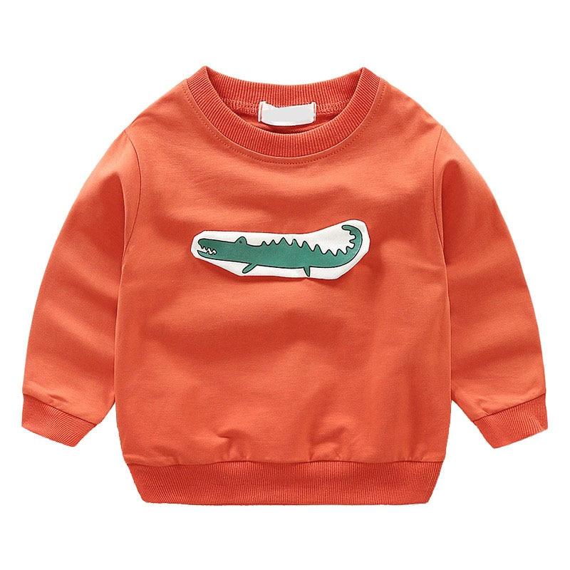 Baby Dinosaur Printing Sweatshirt Boys Long Sleeve Cotton T-shirts Tops Kids Boy Outwear Cotton Shirts