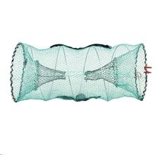 Folding Fishing Net Crab Fish Crawdad Shrimp Minnow Fishing Bait Trap Cast Dip Net Cage Mesh Trap Casting Network недорого