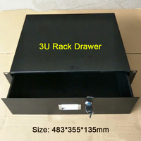 Flight case accessories,Iron drawer,3U standard cabinet drawer 19 Inch Racking Rack Drawers