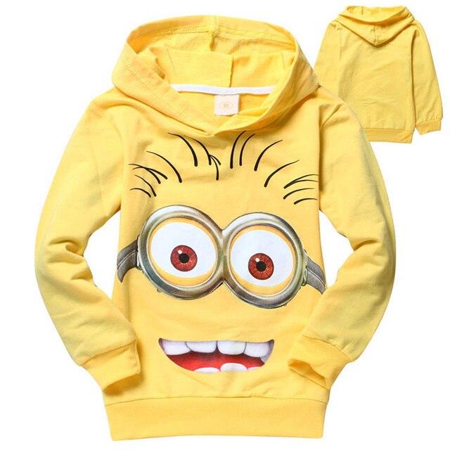 Novo Dos Desenhos Animados Crianças hoodies dos miúdos T-shirt das meninas dos meninos outerwear bebê primavera outono camisolas de manga Longa