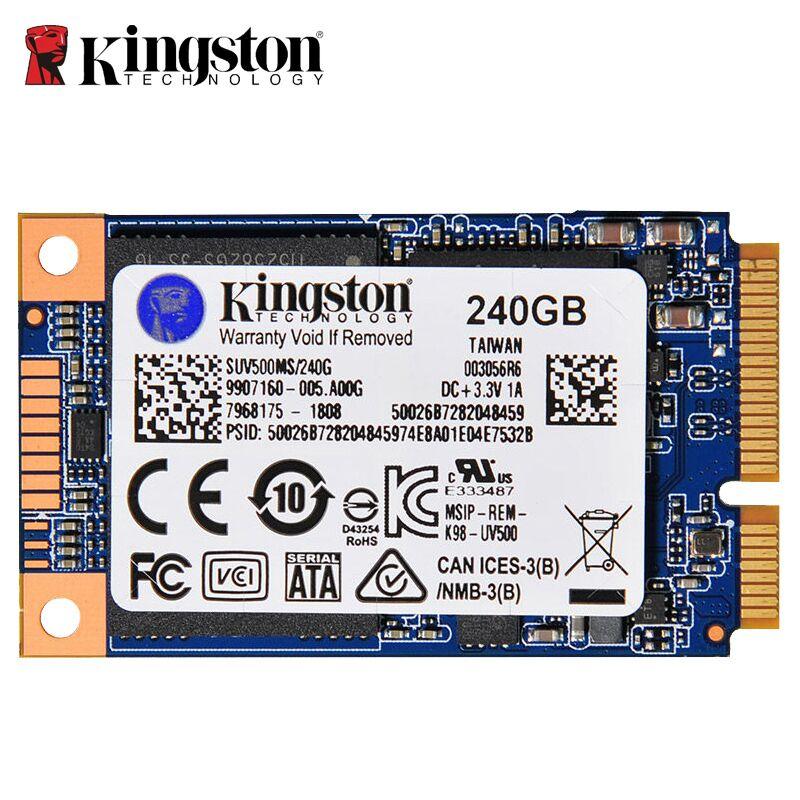 Disque dur interne Kingston 240 GB SSD mSATA disque dur SSD pour ordinateur portable 3.5mm 1.3