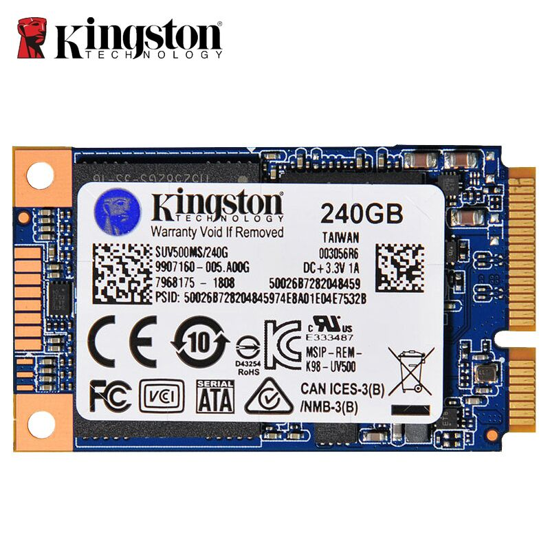 "Kingston Internal Solid State Drive 240GB SSD mSATA Hard Drive SSD For Laptop 3.5 mm 1.3"" SUV500MS for Lenovo thinkpad 6430u"