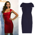 High Quality Women Fashion Sexy Miranda Kerr Red Rayon Bandage Dress 2016 Ladies Designer Bodycon HL Bandage Dress HL7999