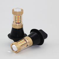 2pcs 1156 DRL LED Fog Lights Dual Color White Yellow Lamps Replacement Turn Signal Blinker Light